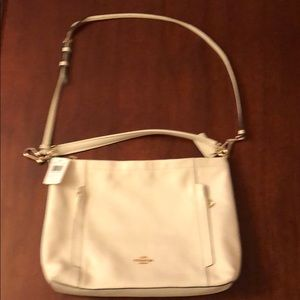 Coach off White Pebble Leather NWT